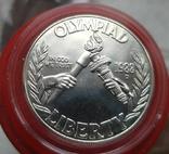 США 1 доллар 1988 г. Серебро XXIV Летние Олимпийские игры в Сеуле 1988 года., фото №2