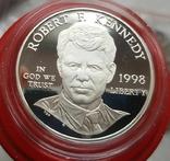 США 1 доллар 1998 г.Роберт Кеннеди. Серебро. Пруф, фото №2