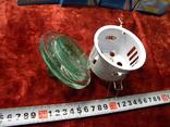Светильники 10 штук+10 лампочек зелёное стекло., фото №10