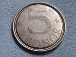 Швеция 5 крон 1989 года, фото №2