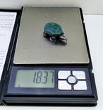 Подвеска Черепашка с зелёным камнем, 18,37 грамм, фото №5