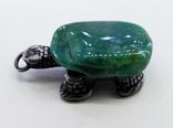 Подвеска Черепашка с зелёным камнем, 18,37 грамм, фото №11