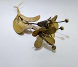 """Латунная брошь """"цветок"""" 12,29 грамм., фото №7"""