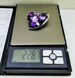 Подвеска мельхиор серебрение с камнями. 22,87 грамм, фото №3