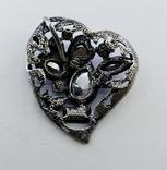 Подвеска мельхиор серебрение с камнями. 22,87 грамм, фото №8
