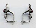 Серебренные сережки скань, проба 925 звезда клеймо, фото №6