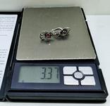 Серебренные сережки скань, проба 925 звезда клеймо, фото №8