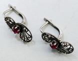 Серебренные сережки скань, проба 925 звезда клеймо, фото №11