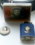 """Стильный набор  """"Че Гевара"""" - ремень, зажигалка, значок., фото №2"""