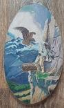 Картина на срезе дерева 30 см, фото №2