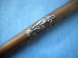 Палочка или указка с накладками из серебра 84 пробы, фото №3