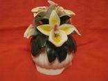 Статуэтка - Букет орхидей в вазе - фарфор., фото №2