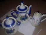 Чайники (2шт)сахарница (1шт), фото №3