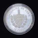 10 Песо 1996 Парусник Америго Веспуччи, Куба, фото №3