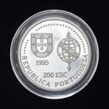 200 Эскудо 1995 Золотой век открытий - Австралия (Серебро 0.925, 26.5г), Португалия, фото №3