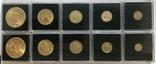 США 10 монет золото 1$  2,5$  5$  10$  20$, фото №2