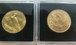 США 10 монет золото 1$  2,5$  5$  10$  20$, фото №8