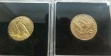 США 10 монет золото 1$  2,5$  5$  10$  20$, фото №10