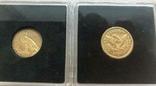 США 10 монет золото 1$  2,5$  5$  10$  20$, фото №12