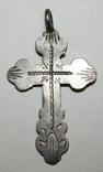 Серебрянный нательный крестик 84 проба (Н.К) 2,3 грамма, фото №2