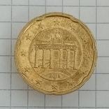 """20 евроцентов 2012г """"G"""" Германия Бранденбургские Ворота, фото №3"""