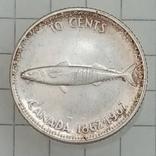 10 центов 1967г Канада серебро, фото №2