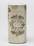Серебрянная спичечница 84 проба 1875 года (E.L-И.С) 19,3 грамма, фото №2