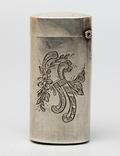 Серебрянная спичечница 84 проба 1875 года (E.L-И.С) 19,3 грамма, фото №5