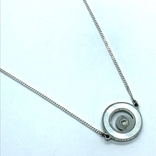 Колье серебро с вставкой металла, фото №2