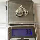Колье серебро с вставкой металла, фото №9
