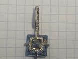 Серебряный кулон с топазом 925пробы с золотой вставкой 375 пробы., фото №4