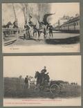Тренировка французской кавалерии две открытки прыжки на коне, фото №2