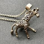Подвес серебро жираф на цепочке, фото №2