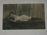 Открытка 1930-1950 год. Девушка  №146, фото №2