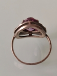 Кольцо с аметистом, фото №5