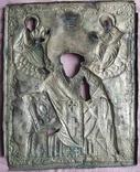 Икона Св. Николай. Оклад серебро., фото №8