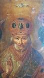 Икона Св. Николай. Оклад серебро., фото №10