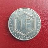 Франция. 1 франк 1988 г. 300 лет Республике, фото №2