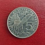 Франция. 5 франков 1994 г. 300 лет Вальтеру, фото №2