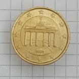 """50 евроцентов 2003г """"J"""" Германия Бранденбургские Ворота, фото №2"""