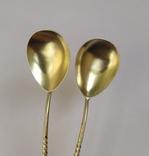 2 чайные серебряные ложки, 875 проба, 1956 г., фото №3