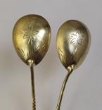 2 чайные серебряные ложки, 875 проба, 1956 г., фото №6