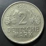 ФРГ. 2 марки 1951г. (J Гамбург) редкая монета, фото №3