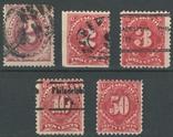 О049 США 1891-1910, доплатные марки, фото №2