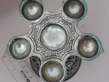 Подставка для благовоний, Индия, серебро, 225 гр., ручная работа, фото №6