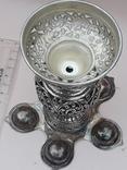 Подставка для благовоний, Индия, серебро, 225 гр., ручная работа, фото №7