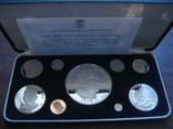 Панама 1975 Официальный набор ВОХ Пруф серебро, фото №2