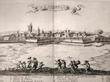 1674 План Ландреси, Франция. Большая карта (62х26, Верже) СерияАнтик, фото №2
