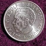 2 кроны Швеция ,1955 год, фото №2