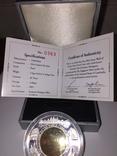 Монета Камбоджи золото-серебряная, фото №7